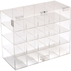 "5203 Horizon Mfg. Safety Glass Holder With Door, 5203, Holds 20 Glasses, 6-3/4""L"