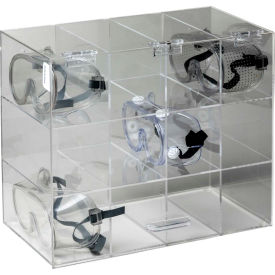 "5205 Horizon Mfg. Safety Glass Holder With Door, 5205, Holds 12 Glasses, 7-3/4""L"