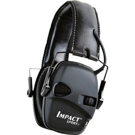 howard leight™ 1030942 impact® sport folding electronic earmuff, black, nrr 22 db Howard Leight™ 1030942 Impact® Sport Folding Electronic Earmuff, Black, NRR 22 dB
