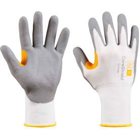 CoreShield® 22-7513W/6XS Cut Resistant Gloves, Nitrile Micro-Foam Coating, A2/B, Size 6
