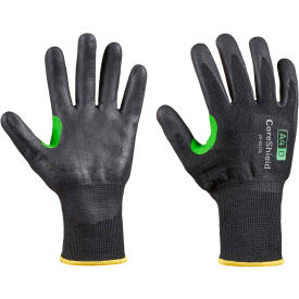 CoreShield® 24-0513B/6XS Cut Resistant Gloves, Nitrile Micro-Foam Coating, A4/D, Size 6