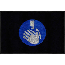 "hand sanitizer - carpeted message mat 3/8"" thick 2 x 3 black Hand Sanitizer - Carpeted Message Mat 3/8"" Thick 2 x 3 Black"