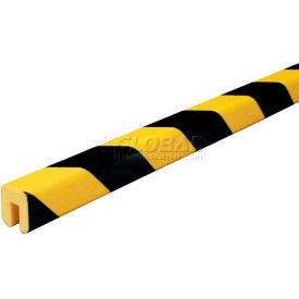"60-6760 Knuffi Shelf Bumper Guard, Type G, 196-3/4""L x 1-1/16""W x 1-1/4""H, Black & Yellow, 60-6760"