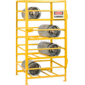 "GSC-3636-70 Little Giant; Horizontal, 8 Cylinder, Industrial Gas Cylinder Cage, 36""W x 36""D x 70""H"