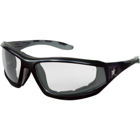 mcr safety® rp210af safety glasses rp2 series, black frame with gray tpr, clear anti-fog lens MCR Safety® RP210AF Safety Glasses RP2 Series, Black frame with gray TPR, Clear Anti-Fog Lens