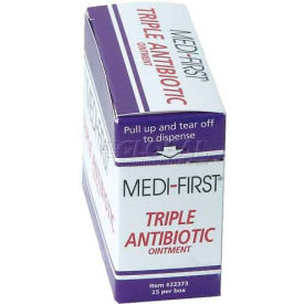 22373 Triple Antibiotic Ointment, 1/57 gm. Packets, 25/Box