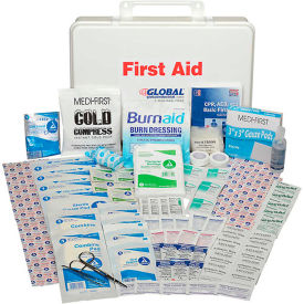 GF768ANSI Global Industrial First Aid Kit - 50 Person, ANSI Compliant, Plastic Case