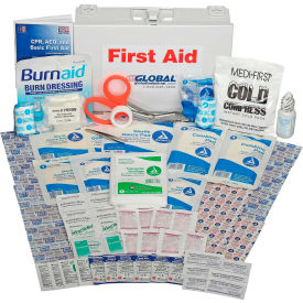 GF818ANSI Global Industrial First Aid Kit - 25 Person, ANSI Compliant, Metal Case