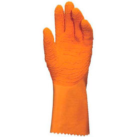 "mapa® harpon 321 natural rubber gloves, 12-1/2"" l, knit lined, orange, 1 pair, size 9, 321129 MAPA® Harpon 321 Natural Rubber Gloves, 12-1/2"" L, Knit Lined, Orange, 1 Pair, Size 9, 321129"