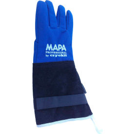 "CRYPLS203808 MAPA; Cryoplus 2.0 Waterproof Cryogenic Gloves, Leather Safety Cuff, 15""L, Size 8, CRYPLS203808"
