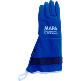 "CRYPLS213810 MAPA; Cryoplus 2.1 Waterproof Cryogenic Gloves, 15""L, Blue, 1 Pair, Size 10, CRYPLS213810"