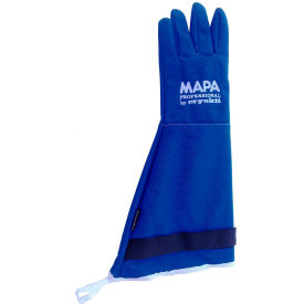 "CRYPLS214510 MAPA; Cryoplus 2.1 Waterproof Cryogenic Gloves, 18""L, Blue, 1 Pair, Size 10, CRYPLS214510"