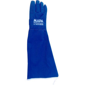 "CRYPLS215508 MAPA; Cryoplus 2.1 Waterproof Cryogenic Gloves, 22""L, Blue, 1 Pair, Size 8, CRYPLS215508"