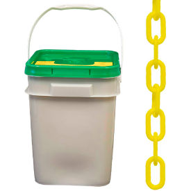 "30002-P Plastic Chain - 1-1/2"" Links - In A Pail - Yellow - 300 Feet - Trade Size 6"