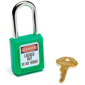 410GRN Master Lock; Safety 410 Series Zenex; Thermoplastic Padlock, Green, 410GRN