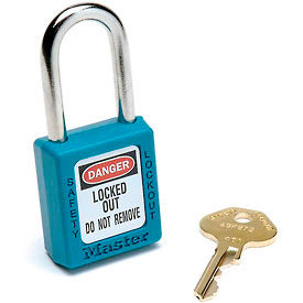 410TEAL Master Lock; Safety 410 Series Zenex; Thermoplastic Padlock, Teal, 410TEAL
