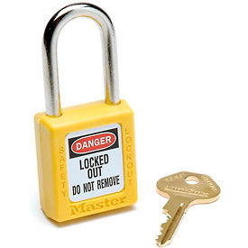 410YLW Master Lock; Safety 410 Series Zenex; Thermoplastic Padlock, Yellow, 410YLW