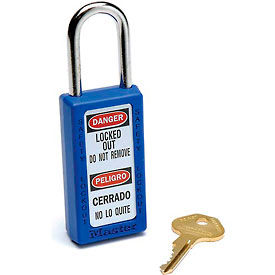 411BLU Master Lock; Safety 411 Series Zenex; Thermoplastic Padlock, Blue, 411BLU