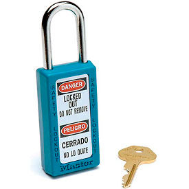 411TEAL Master Lock; Safety 411 Series Zenex; Thermoplastic Padlock, Teal, 411TEAL