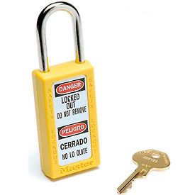 411YLW Master Lock; Safety 411 Series Zenex; Thermoplastic Padlock, Yellow, 411YLW