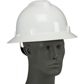 SWX00358 Full Brim Hard Hat With Wheel Ratchet Suspension, White, SWX00358