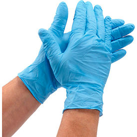 NG-2005 Defend; Medical/Exam Textured Nitrile Gloves, Powder-Free, Blue, L, 100/Box, NG-2005