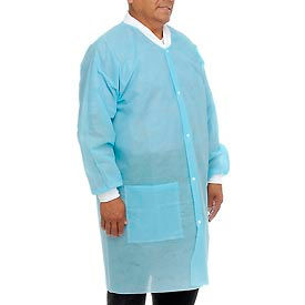 "SG-9004 Disposable Lab Coats - M, 39""L, 10/Pack"