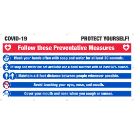 nmc, covid-19 protect yourself banner, 6 x 12 NMC, Covid-19 Protect Yourself Banner, 6 x 12