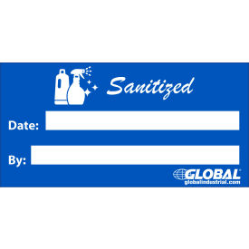 "global industrial™ sanitized sign, adhesive, 2"" x 4"" Global Industrial™ Sanitized Sign, Adhesive, 2"" x 4"""