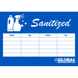 "global industrial™ sanitized checklist sign, 7"" x 10"" Global Industrial™ Sanitized Checklist Sign, 7"" x 10"""