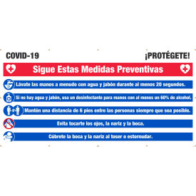 nmc, covid-19 protect yourself banner, 6 x 12, spanish NMC, Covid-19 Protect Yourself Banner, 6 x 12, Spanish