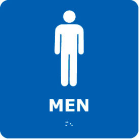 ADA1WBL Graphic Braille Sign - Men - Blue