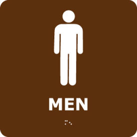 ADA1WBR Graphic Braille Sign - Men - Brown