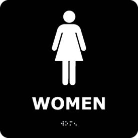 ADA2WBK Graphic Braille Sign - Women - Black
