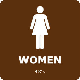 ADA2WBR Graphic Braille Sign - Women - Brown