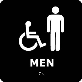 ADA4WBK Graphic Braille Sign - Men - Black