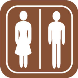 AS57 Architectural Sign - Rest Room Symbol