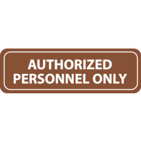 AS81 Architectural Sign - Authorized Personnel Only