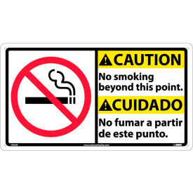 CBA3R Bilingual Plastic Sign - Caution No Smoking Beyond This Point