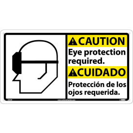 CBA5R Bilingual Plastic Sign - Caution Eye Protection Required