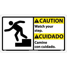 CBA6R Bilingual Plastic Sign - Caution Watch Your Step
