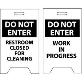 FS22 Floor Sign - Do Not Enter Restroom Closed For Cleaning