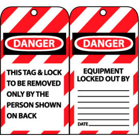 LOTAG1 Lockout Tags - This Tag & Lock To Be Removed Only By The Person Shown On Back