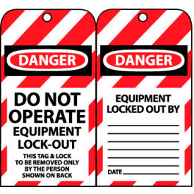 LOTAG11 Lockout Tags - Do Not Operate Equipment Lock-Out