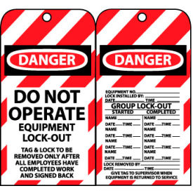 LOTAG12 Lockout Tags - Do Not Operate Equipment Lock-Out
