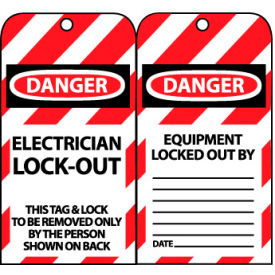 LOTAG16 Lockout Tags - Electrician Lock-Out