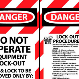 LOTAG28 Lockout Tags - Do Not Operate Equipment Lock-Out