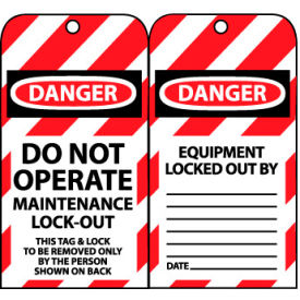 LOTAG33 Lockout Tags - Do Not Operate Maintenance Lock-Out