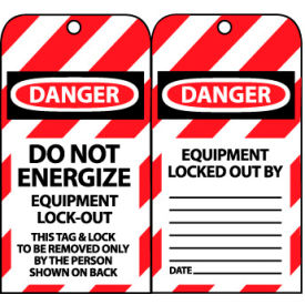 LOTAG8 Lockout Tags - Do Not Energize Equipment Lock-Out