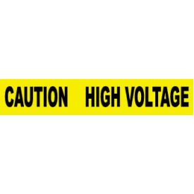 printed barricade tape - caution high voltage Printed Barricade Tape - Caution High Voltage